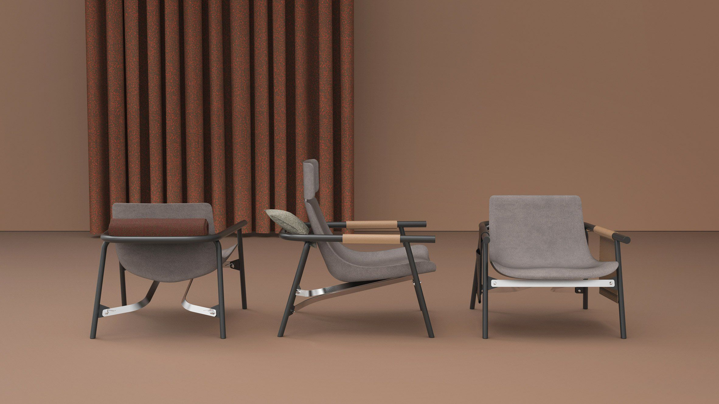 EDDY Lounge chair by Alain Gilles(이미지 포함) 의자