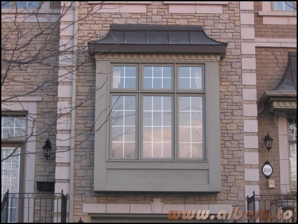 This is a box bay window because it is square shaped with for Bay window design ideas exterior