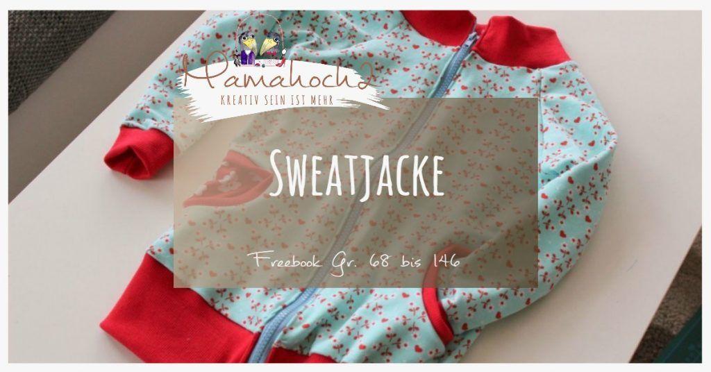 Nähanleitung Freebook kostenloses Schnittmuster Sweatjacke Kids ...