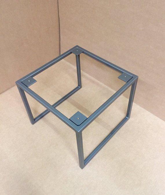 Square Coffee Table Metal Legs: Design Square Coffee Table Base, Industrial Square Base In