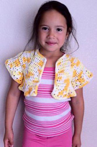 Girls Cotton Summer Shrug Pattern By Danelle Ortega Free Pattern