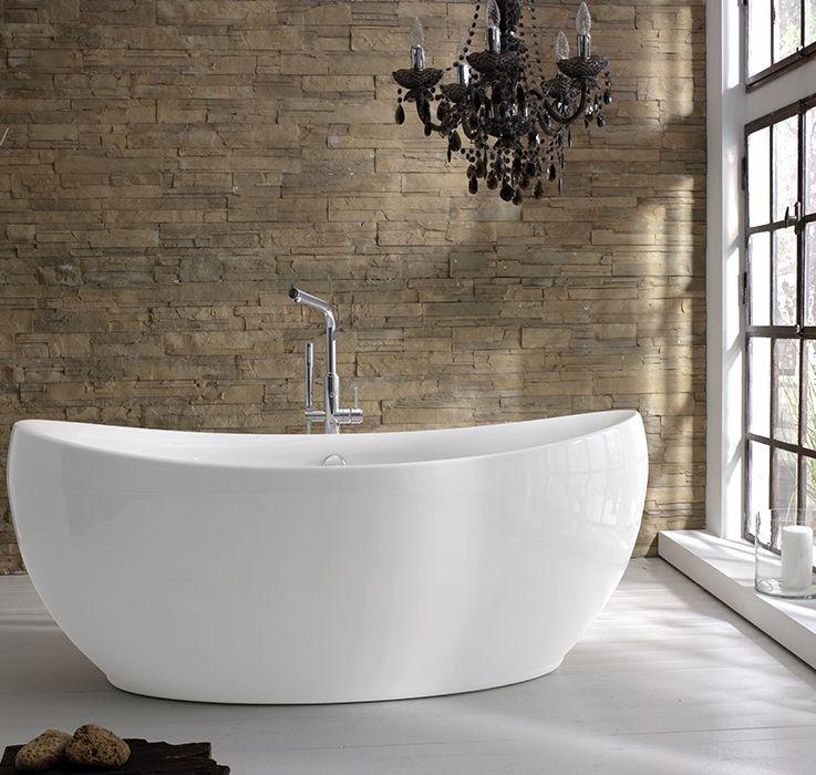 tellkamp spirit die perfekt symmetrische freistehende oval badewanne berzeugt durch eine. Black Bedroom Furniture Sets. Home Design Ideas