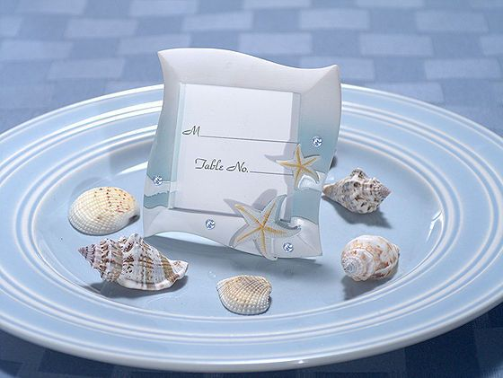 Cassiani Collection 5550 2X3 Place Card Frame Beach Theme in Blue and White Colors $0.90