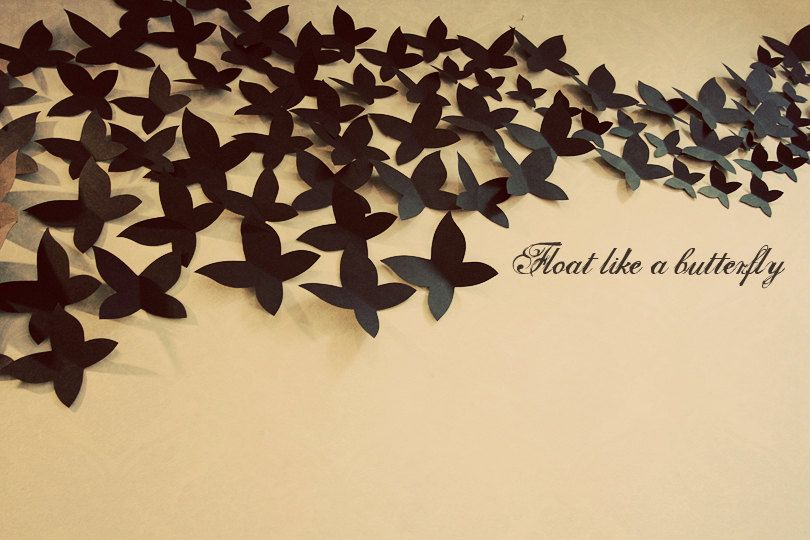 Float Like A Butterfly 3D Wall Decor / Art Installation / Guest Book ...