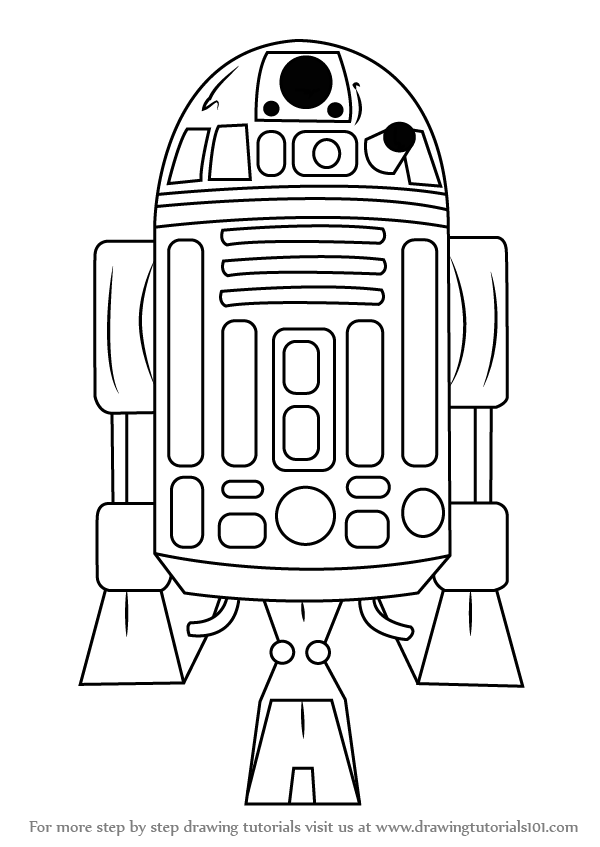 Learn How to Draw R2-D2 from Star Wars (Star Wars) Step by Step ...
