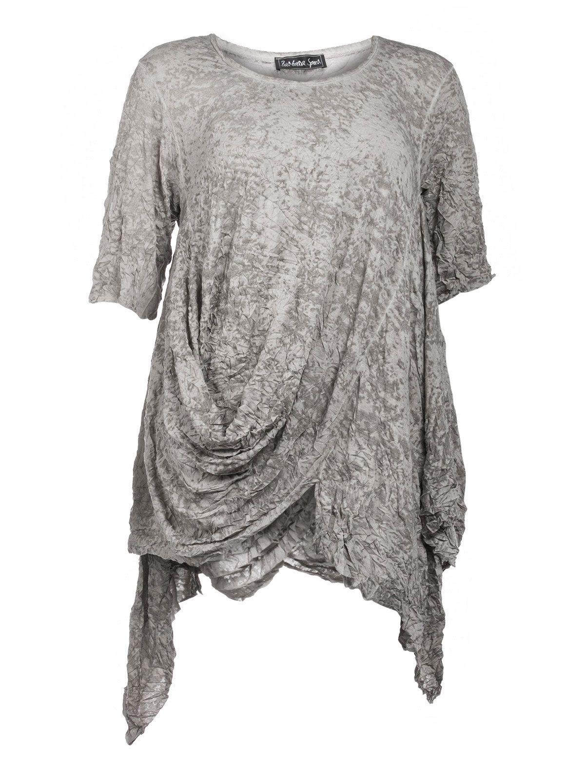 Barbara Speer Shirt Mit Geraffter Front In Taupe Grau