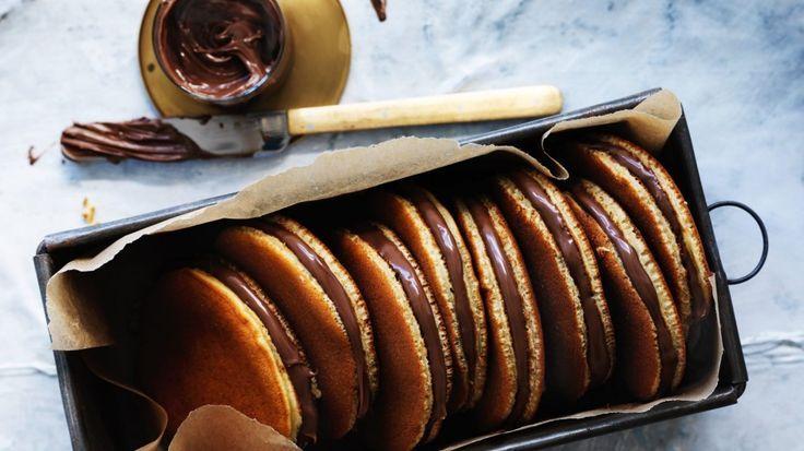 Japanese Nutella pancake Japanese Nutella pancake.        Japanese Nutella pancake.