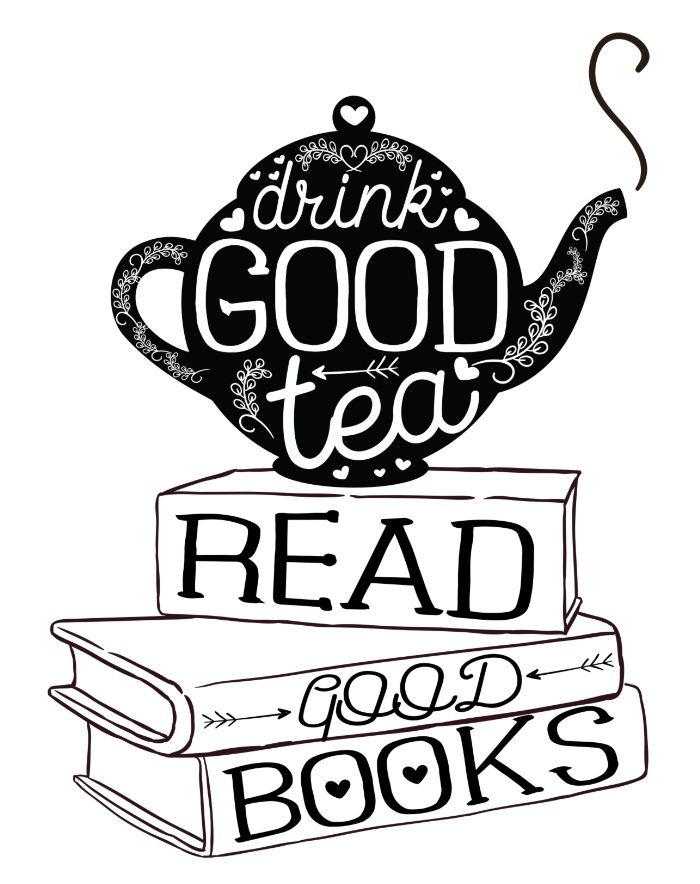 Drink Good Tea, Read Good Books Art Print by evieseo