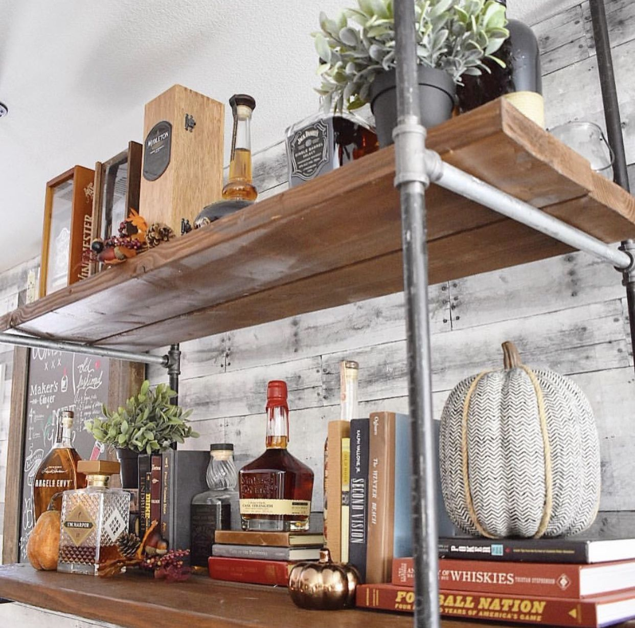 DIY Industrial Pipe Whiskey Bar   My home   Pinterest   Industrial ...
