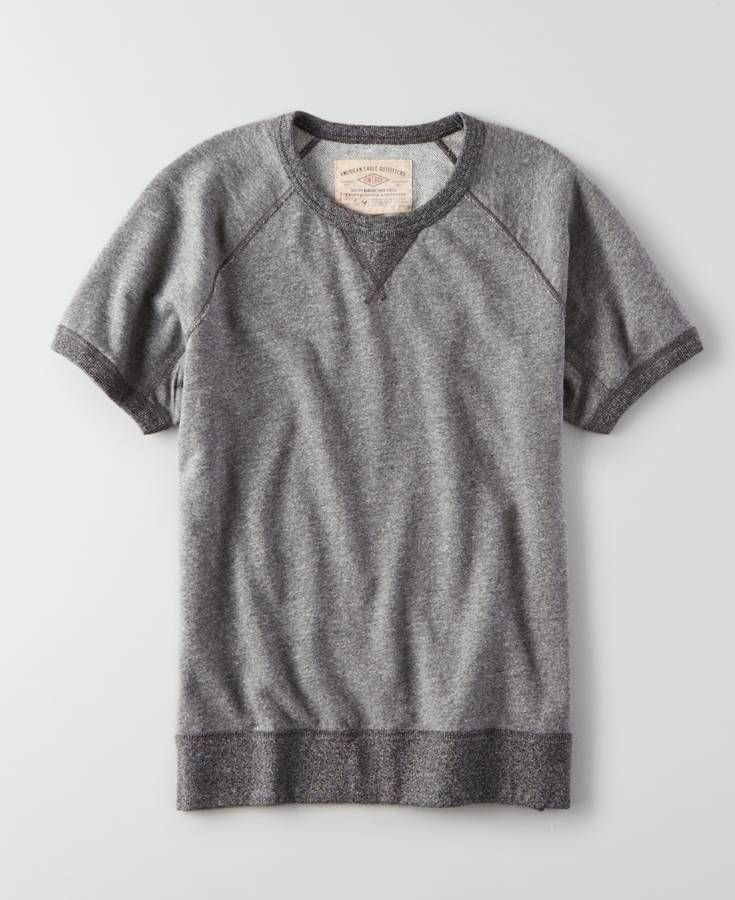 AEO Vintage Short Sleeve Sweatshirt, Men's, Grey | *Clothing ...