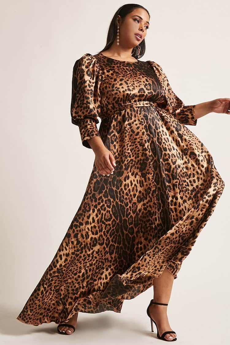 e8d8b448a10 Product Name:Plus Size ETA Cheetah Print Maxi Dress, Category ...