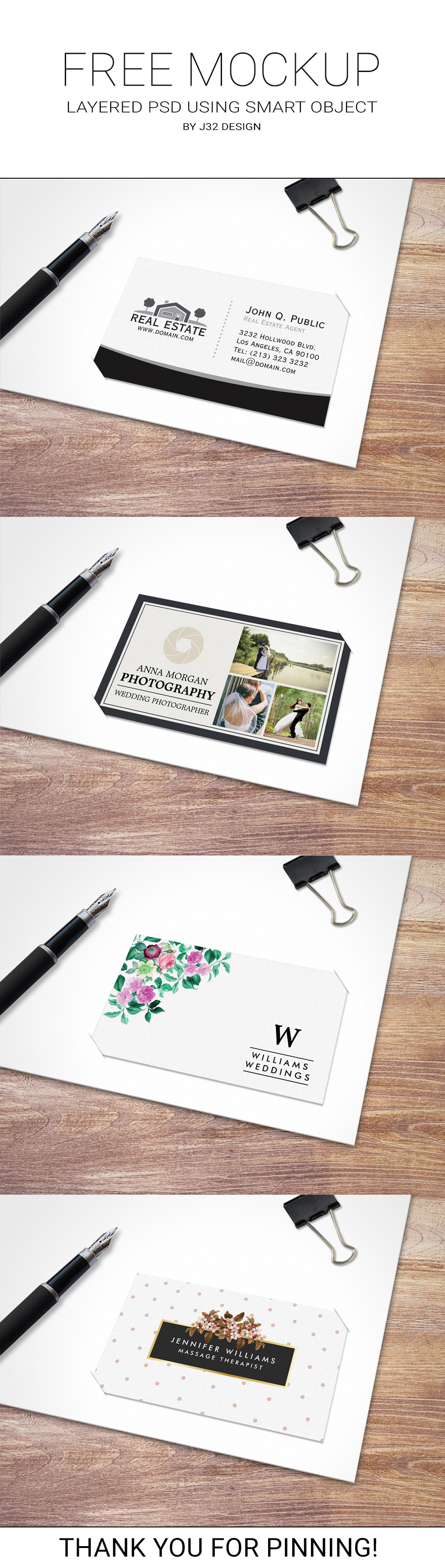 Free business card mockup by J32 Design. Download this great freebie ...
