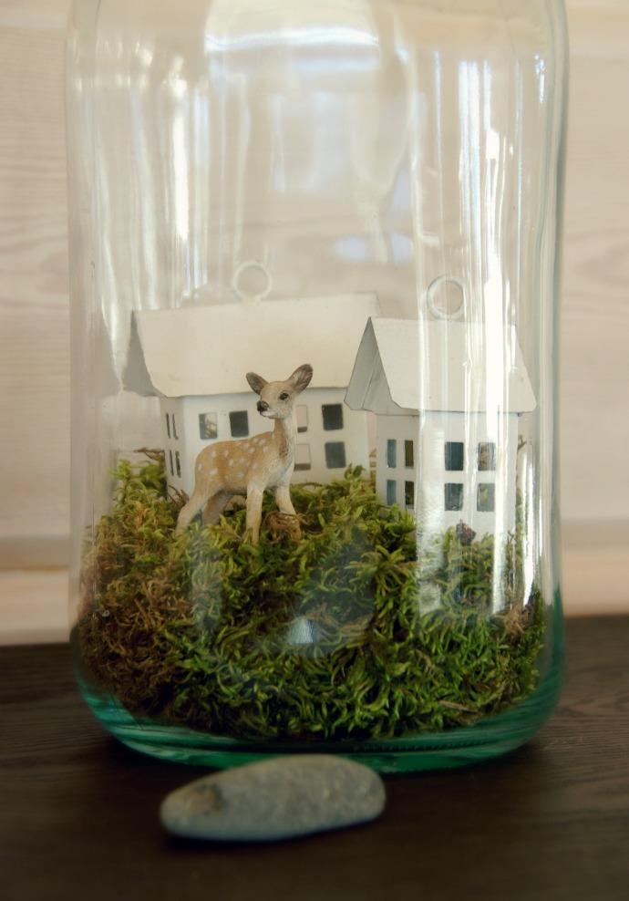 Tarja's Snowland Blog / winter / glass jar / bambi / home decor