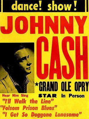 Johnny Cash - 1950's - Dance! Show! - Concert Poster
