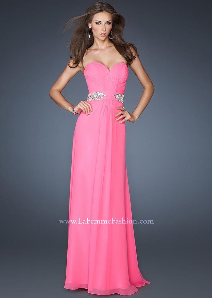 Neon pink is so perfect for prom! - Gigi 19012 Neon Pink Dress ...