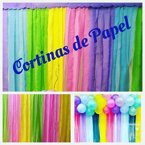 pinapinatas cortinas decoracion cortinas de papel para