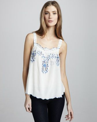 Moroccan Embroidered Cami by Rebecca Taylor at Bergdorf Goodman.