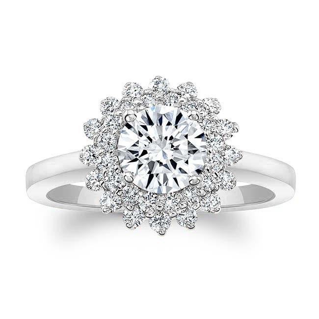 Barkev's White Gold Diamond Engagement Ring 8063L