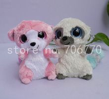 41cf9bc1bef IN HAND~2PCS~ TY BEANIES BOOS~ PLUSH Solid eye~Bushbaby Cleo Bubblegum~NO  HEART TAG~ 6