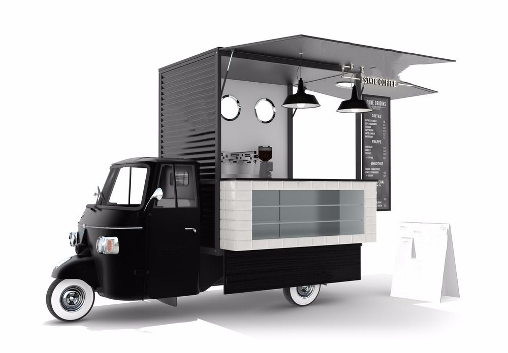 how to set up a coffee van