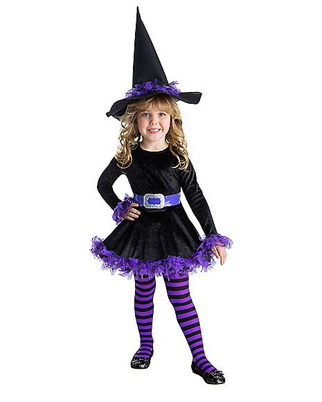 Toddler Cute Witch Costume Spirithalloween Com Toddler Witch Costumes Witch Halloween Costume Cute Witch Costume