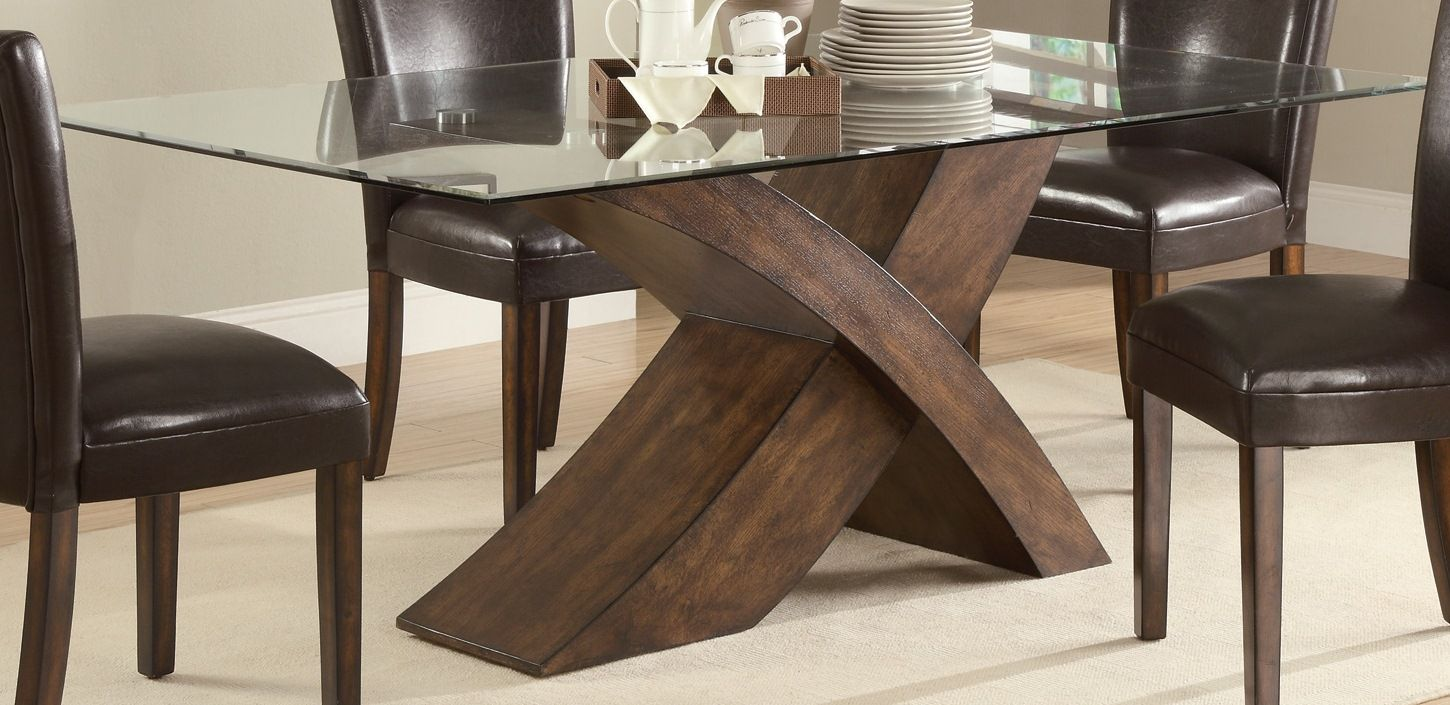 Home Outlet Furniture Nessa Brown Dining Table W 4 Side Chairs