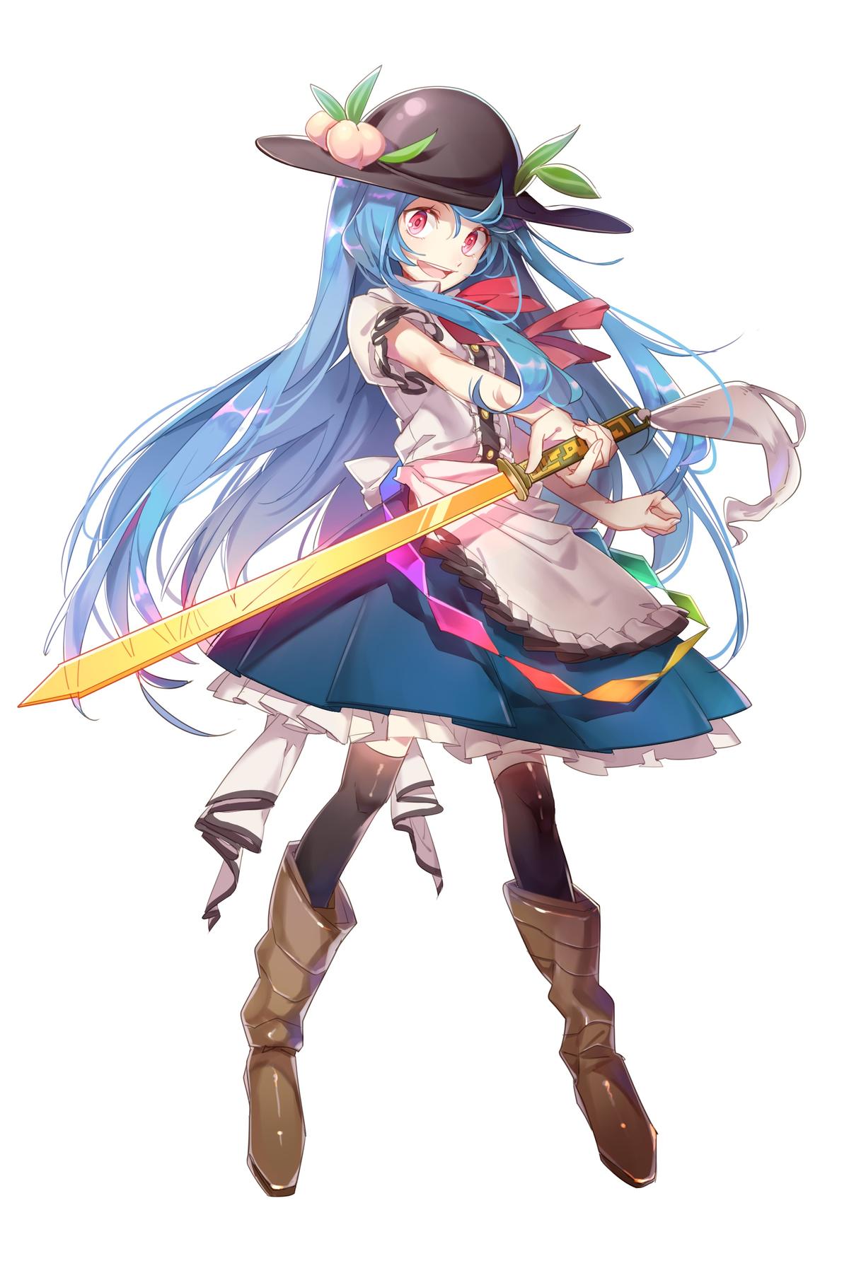 tags fanart touhou hinanawi tenshi aibivy character art character design inspiration awesome anime