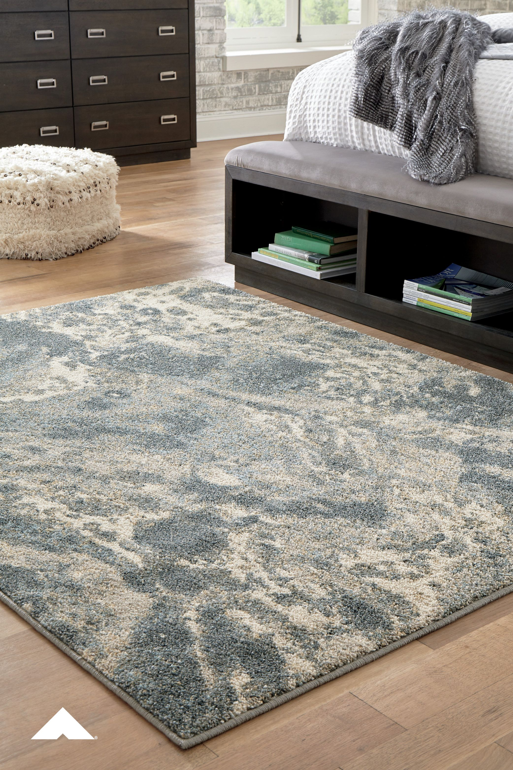 Jyoti Blue Gray Tan Medium Rug This Designer Accent Rug S Marbleized Design Is Something To Marvel Indeed Thi In 2020 Fall Furniture Large Rugs Glamour Living Room