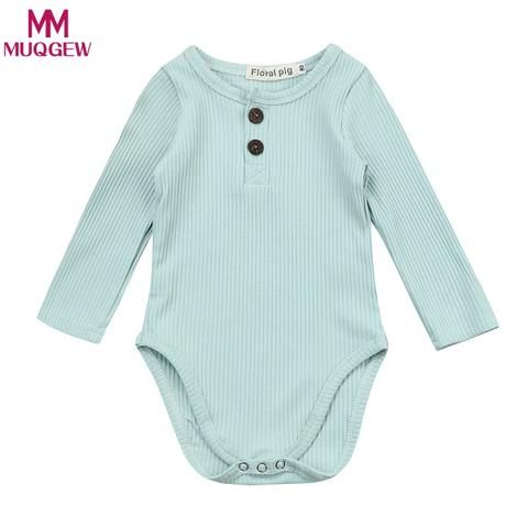 9c11c9f8e6 New Baby Clothes Spring Cotton Baby Girl Stripe Knit Jumpsuit Romper Baby  Long Sleeve Outfit Newborn Baby Girl One-piece Romper
