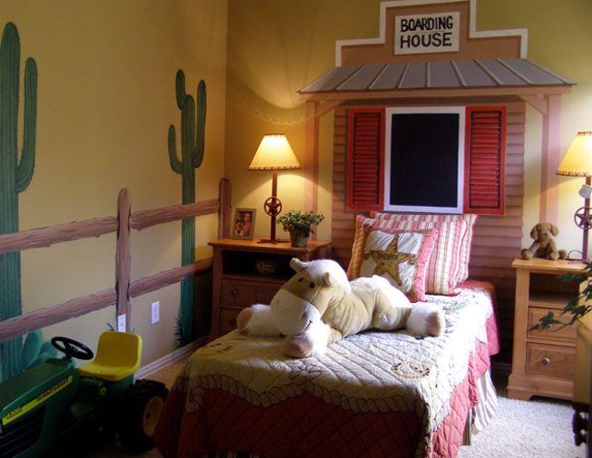Cowboy Bedroom Mural. Western Mural. Boys Mural. Mural