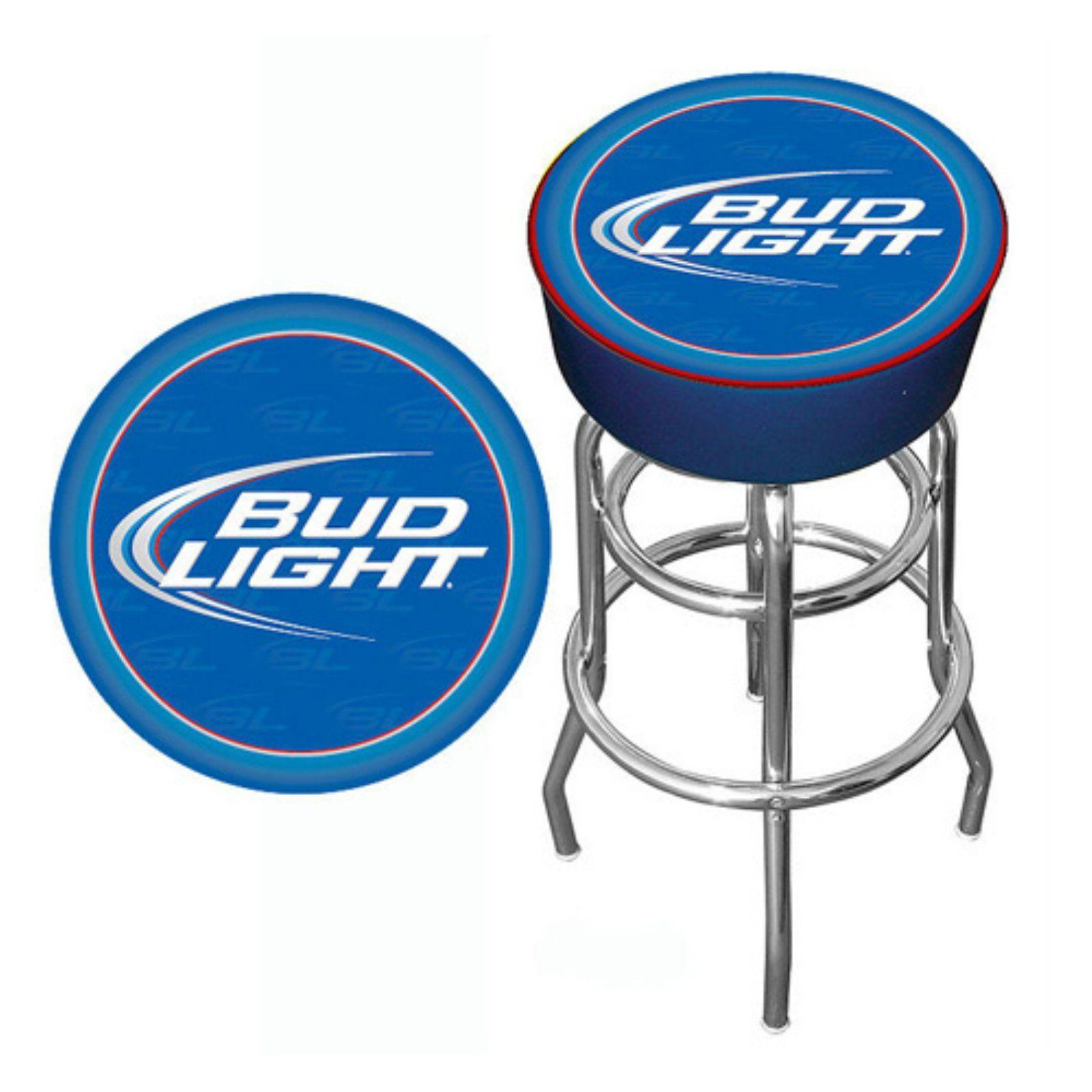 Bud Light Backless Padded Bar Stool Blue Bar Stools Bar Lighting