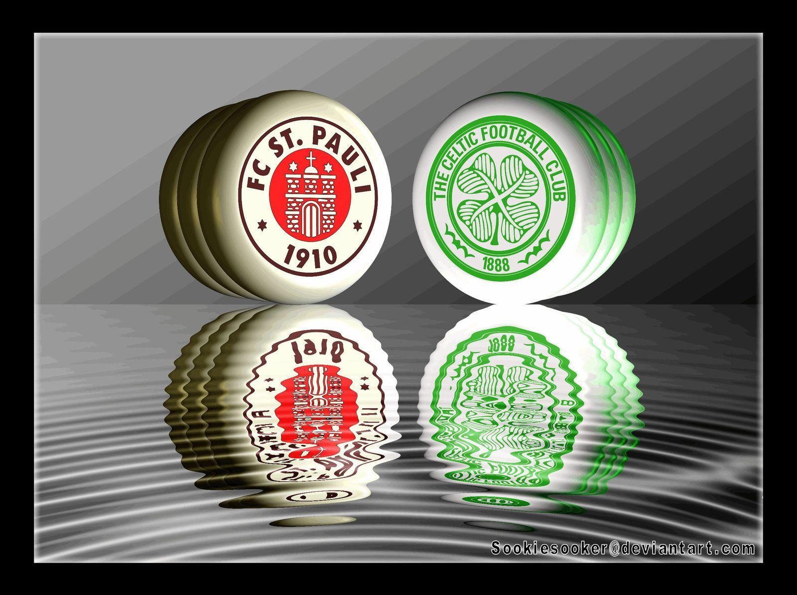 Celtic FC + FC ST Pauli Crests by sookiesooker.deviantart.com on @deviantART