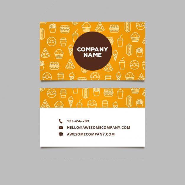 This Business Card Design By Our Inhouse Designers Team Http 49designers Com Portfolio 2 1 Food Business Card Design Food Business Card Name Card Design