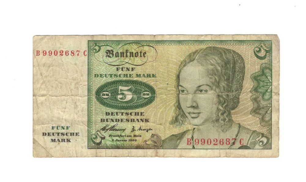 Germany, 1960 5 Deutsche Mark (With images) Marks