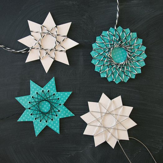 DIY Star Tutorials from from my Tumblr Kids' Craft Blog unicornhatparty.com • Top Photo: Crystal Borax Snowflake Tutorial from Work It, Mom. • Middle Photo: 5 String Art Stars' Tutorials and Templates from By Blikfang. • Bottom Photo: Easy Split Star...