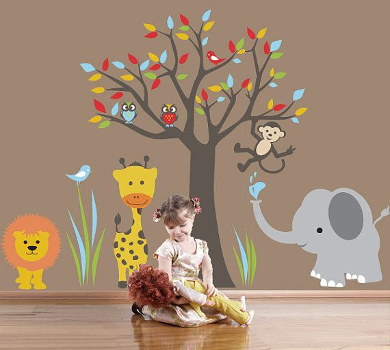 Nursery Wall Decals Baby Nursery Decal Jungle By ArtHomeDecals I - Kids wall decals jungle