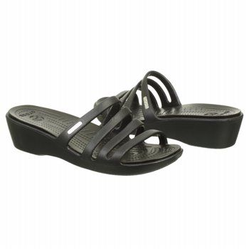 424b5e462825 Crocs Women s Rhonda Wedge at Famous Footwear. Crocs Women s Rhonda Wedge  at Famous Footwear Black Wedge Sandals ...