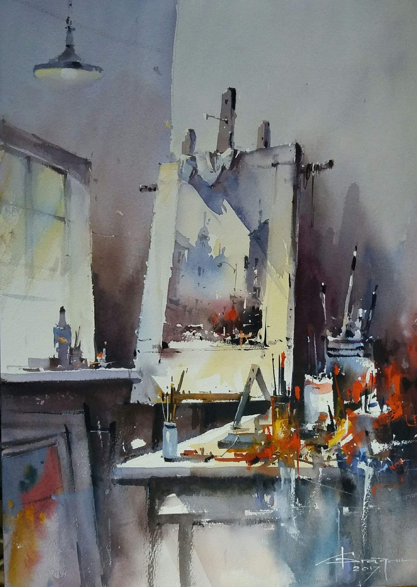 Epingle Par Fabrice Stefanos Sur Watercolor Peinture Aquarelle