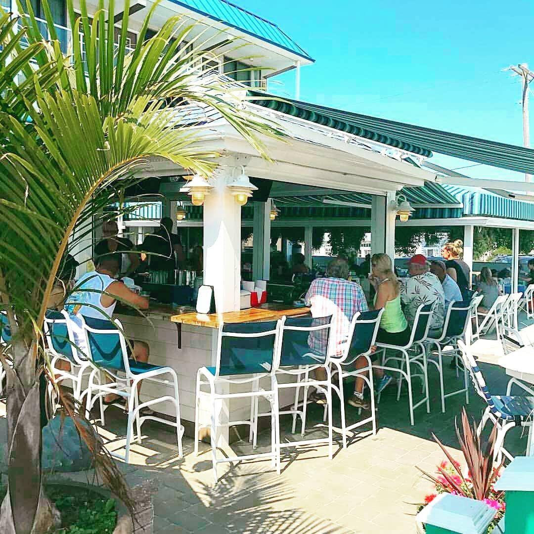 Beach Bar in LBI NJ at Spray Beach Hotel Beachfront