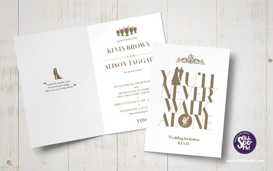Liverpool FC - You\'ll Never Walk Alone wedding invitation. This ...