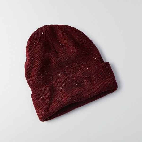 AE Cuffed Beanie ($12) ❤ liked on Polyvore featuring accessories, hats, red, cuffed beanie, american eagle outfitters, red hat and cuff beanie