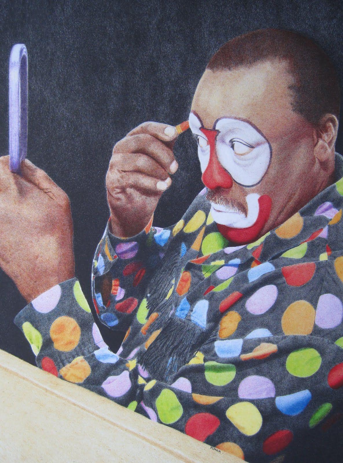 M hams art san antonio rodeo art famous clowns send