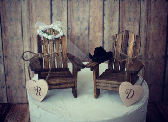 Western Rustic Wedding Adirondack Chairs Miniature Lake House Cabin WeddingRustic WeddingFall WeddingDream WeddingCake