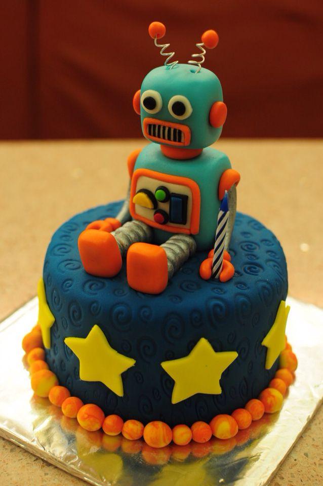 Robot Cake Boys Robot In 2019 Robot Cake Birthday