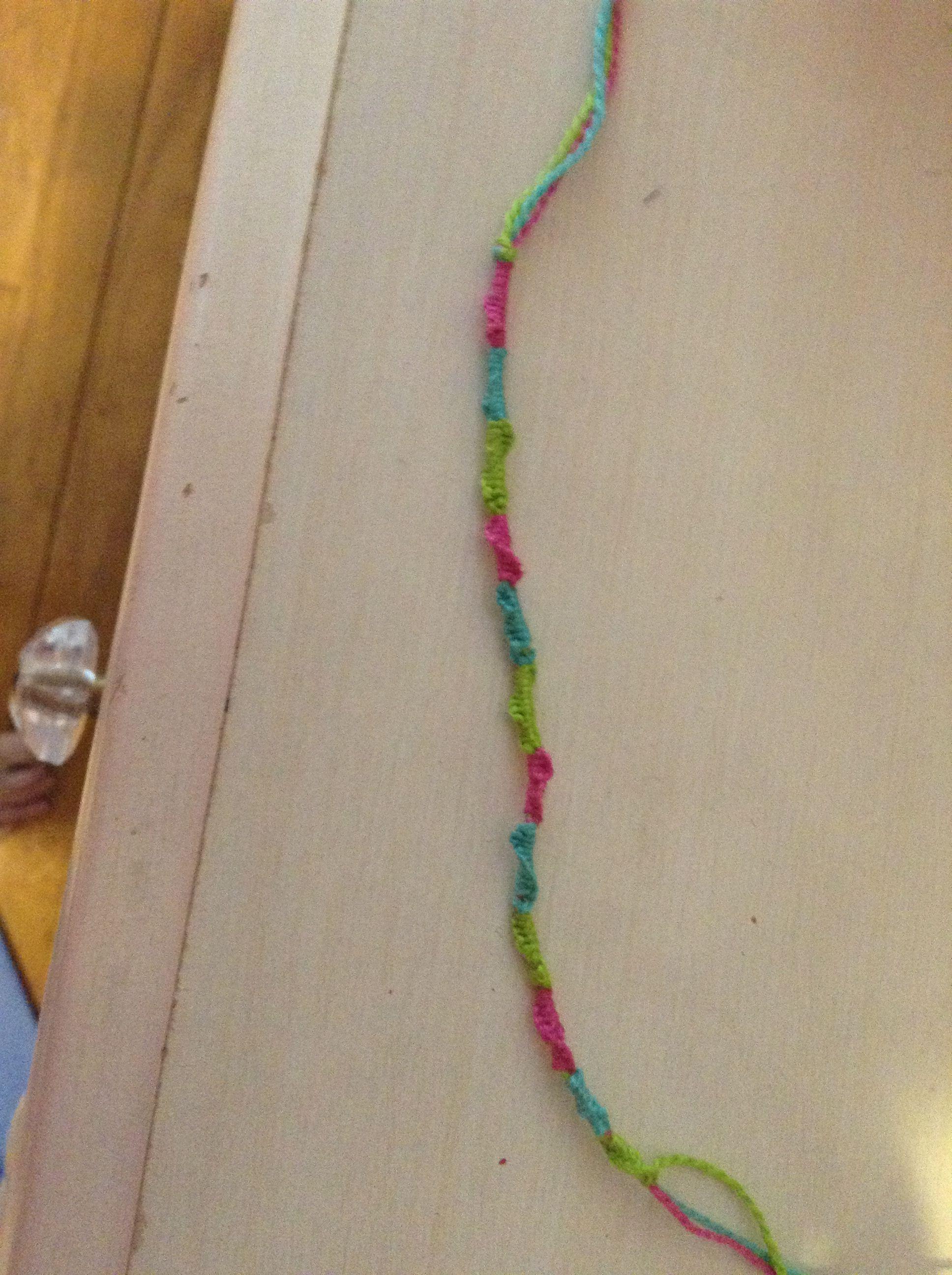diy string friendship bracelet arts crafts