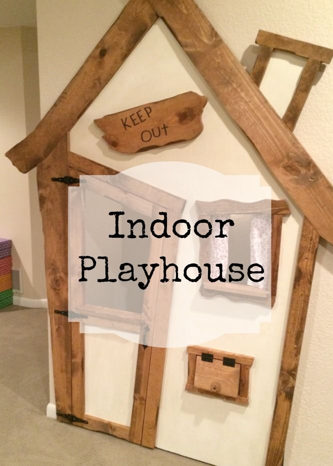 Indoor Playhouse DIY Project Kid\u0027s Room Play houses, Indoor