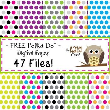 free digital papers polka dots boxes tags free printables pinterest buntes papier. Black Bedroom Furniture Sets. Home Design Ideas