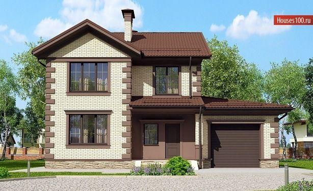 C-148 Проект стометрового двухэтажного дома в классическом ...