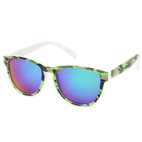 Lunettes Soleil Fool Love monture Camouflage vert clair  mode   lunettessoleil  bonplan avec  hatshowroom 7ef6879b1158