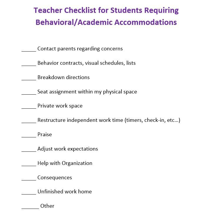student academic contract template